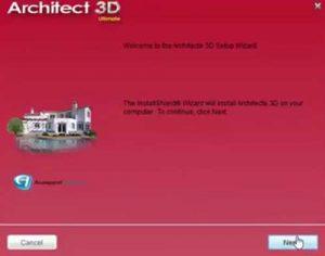 installer architecte 3d etape 1