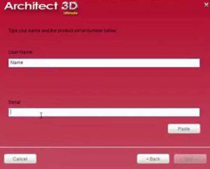 installer architecte 3d etape 2