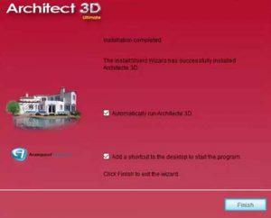 installer architecte 3d etape 4